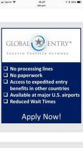 Sexy Senior savvy traveller Global Entry