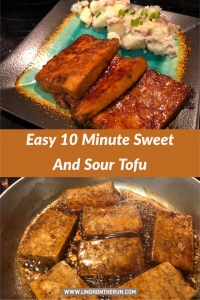 Easy 10-Minute Sweet and Sour Tofu   Tofu recipes healthy   tofu recipes vegan   tofu recipes easy   easy tofu recipes   easy vegan recipes   #tofu #vegan #tofurecipes #veganrecipes