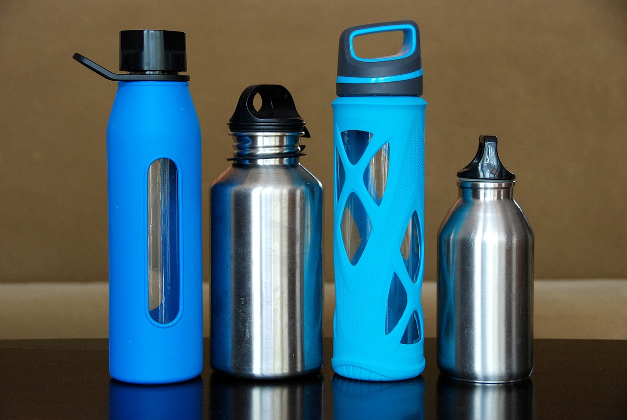 How to avoid getting sick on a plane water bottles