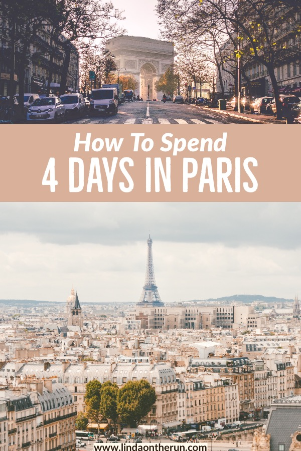 The Ultimate 4 Days In Paris Itinerary is the perfect way to spend a long weekend in Paris! It is so easy to see Paris in four days!  This Paris itinerary offers many Paris travel tips and everything you need to know about visiting Paris France in four days! #paris #france #notredame #louvre #eiffeltower #paristravel