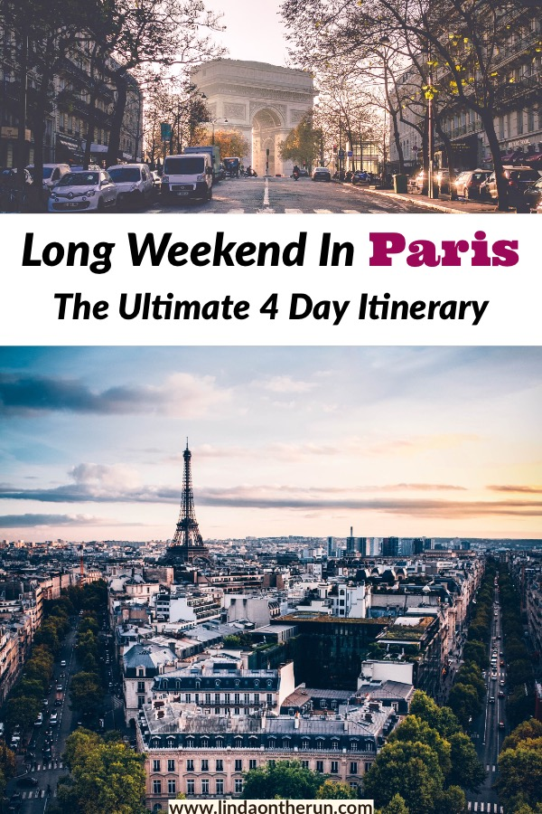 Looking for how to spend a long weekend in Paris? This long weekend itinerary for Paris is perfect for spending 4 days in Paris! Here is the ultimate guide to Paris #paris #france #travel #eiffeltower
