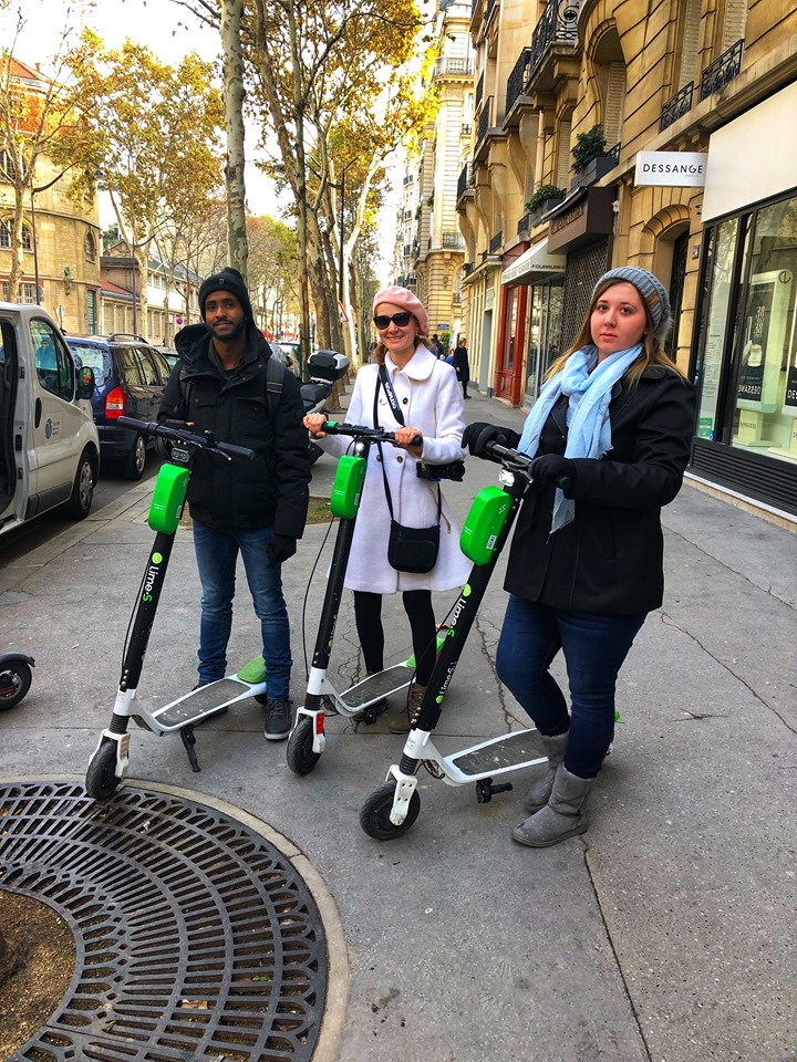 2 days in Paris scooters