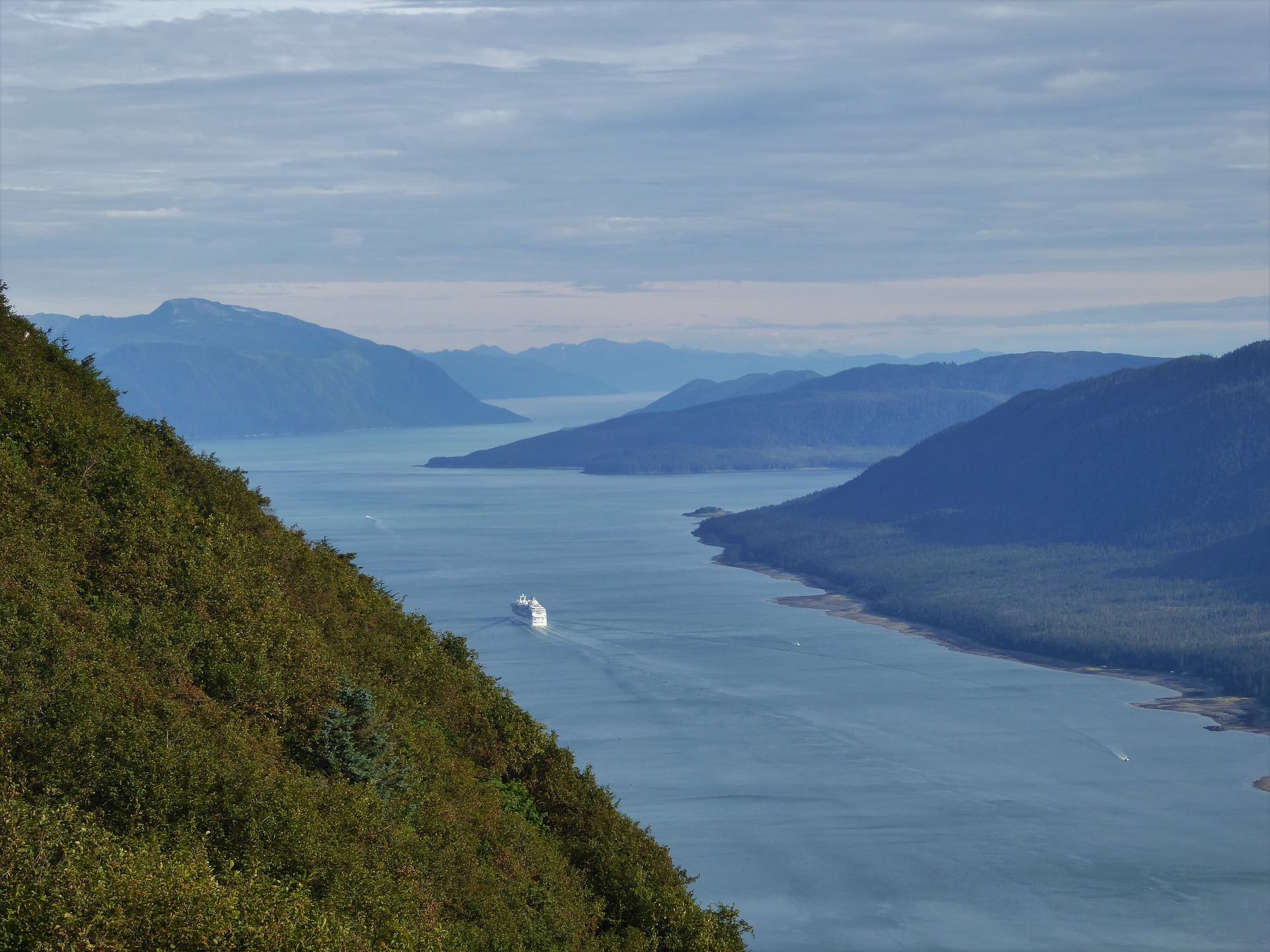 alaska cruise packing list ship in a distance