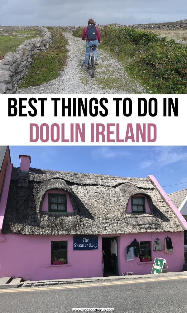 best things to do in doolin ireland | doolin to cliffs of moher walk | doolin to aran islands | pink building in doolin ireland | best things to do in doolin | doolin ireland | ireland travel tips | things to do in ireland | #ireland