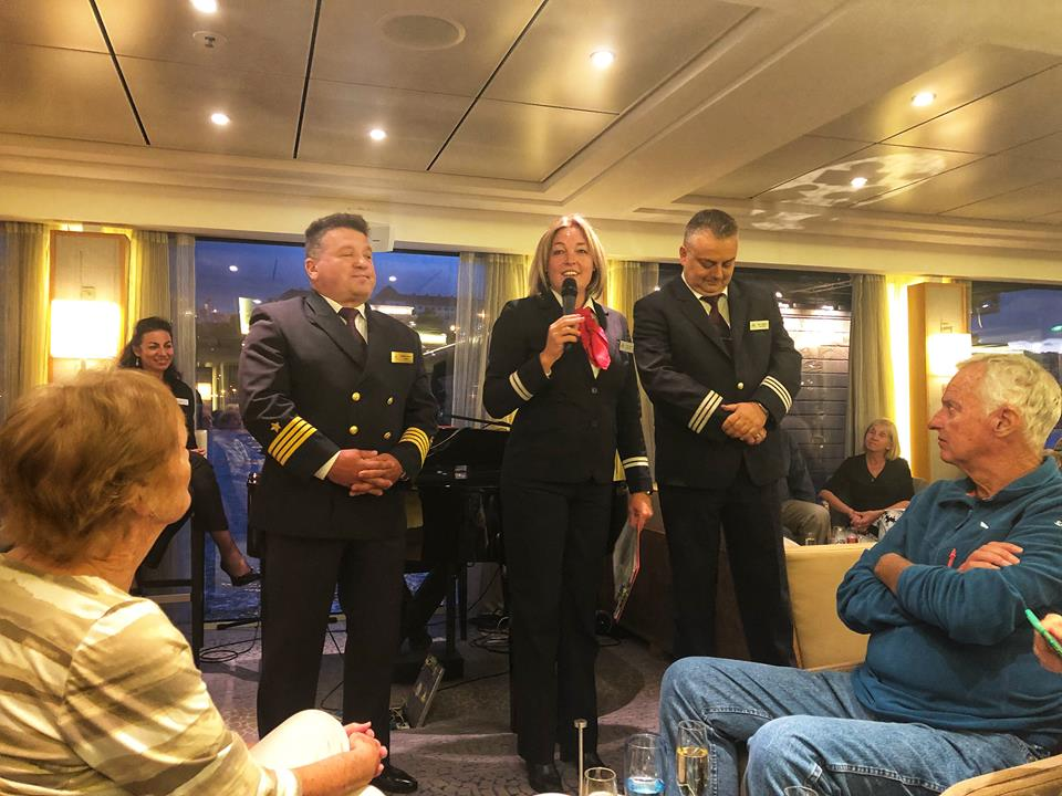Viking European River Cruise officers farewell
