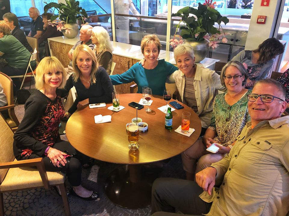 Viking European River Cruise lounge friends
