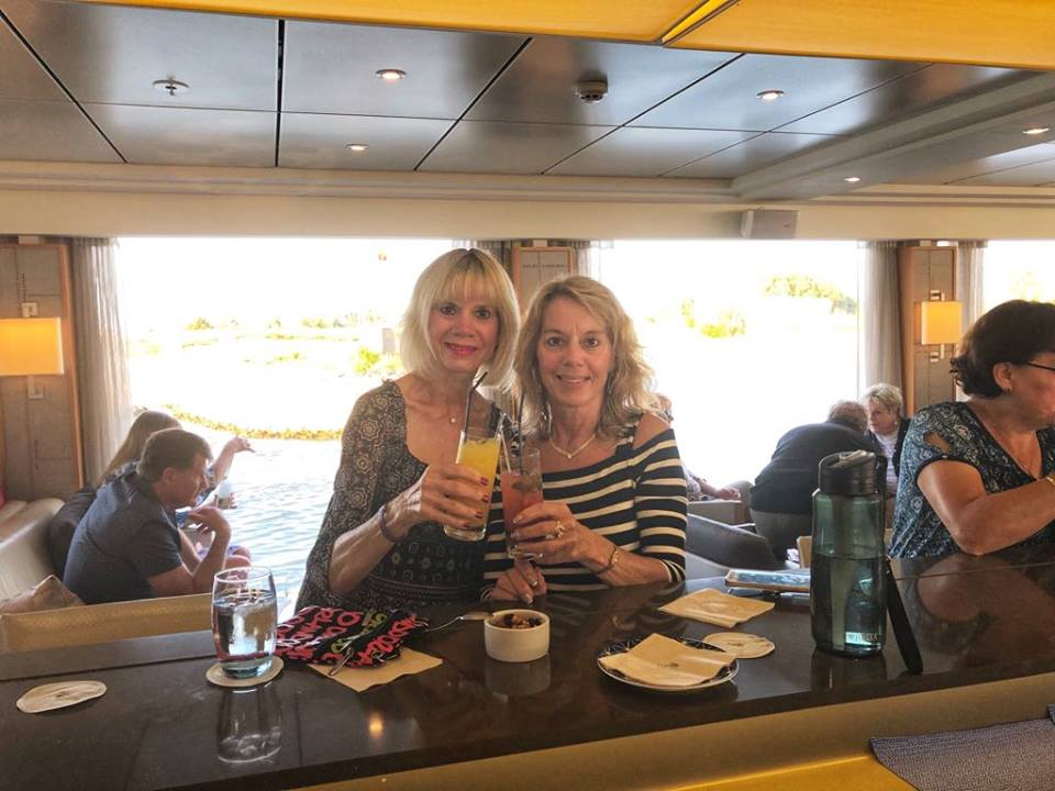 Viking River Cruise at the bar