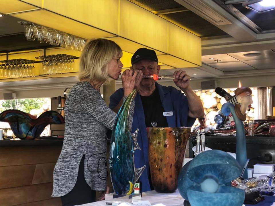 Viking River Cruise glassblowing