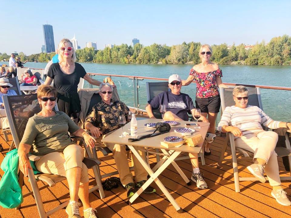Viking European River Cruise Vienna cruising with friends