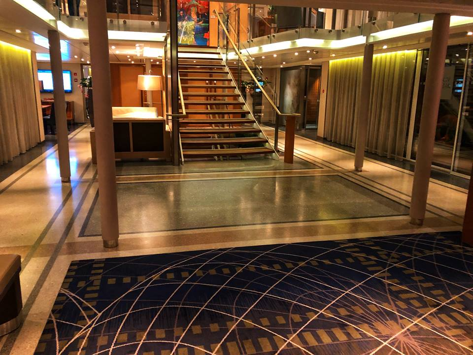 Viking river cruise tips Baldur lobby