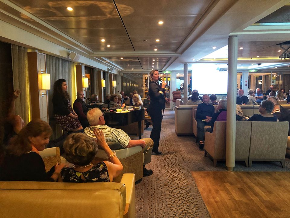 Viking river cruise Tessa in loung