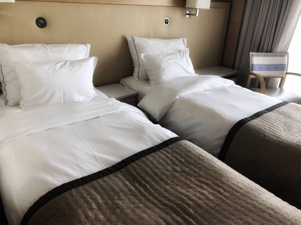 Viking river cruise tips beds in stateroom