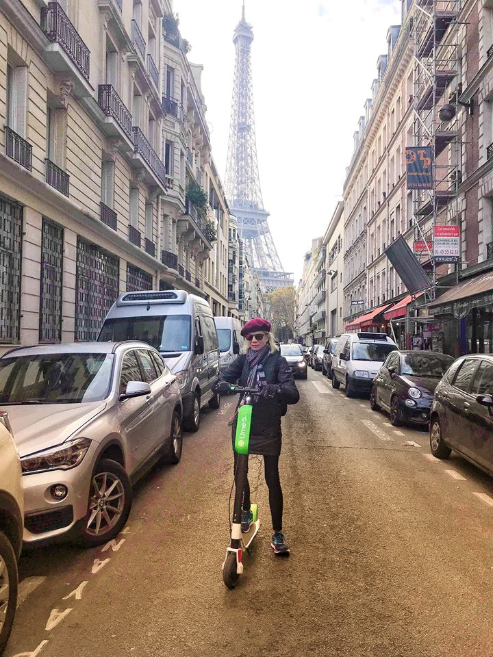 First time in Paris Linda scooter