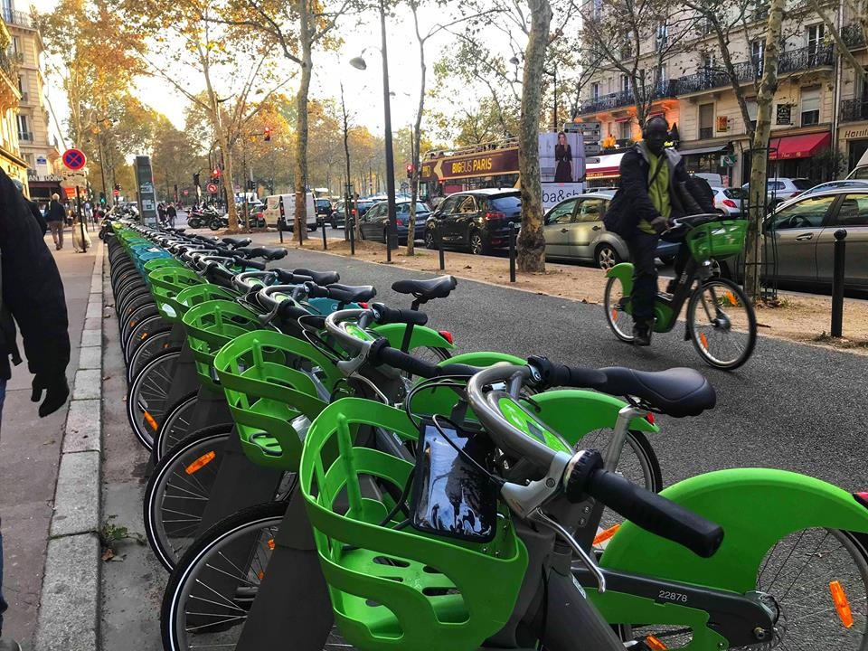 First time in Paris bicycles