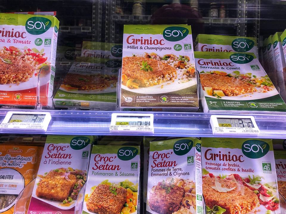 Vegan in Paris grocery store option
