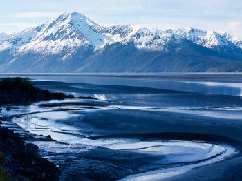Anchorage to Seward TurnAgain Arm mud flate