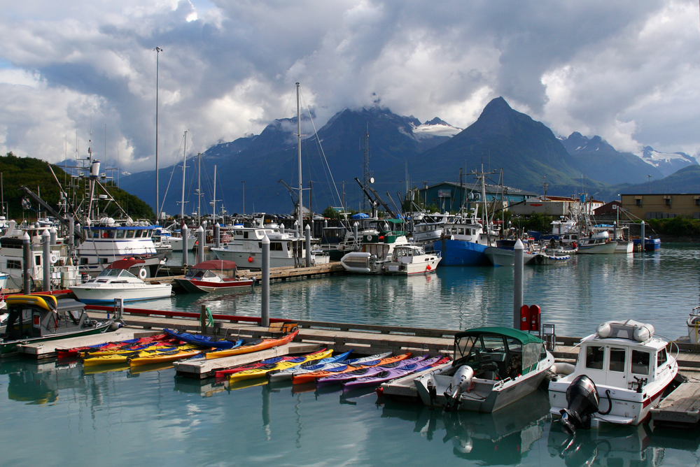 towns in Alaska Valdez boat harbor