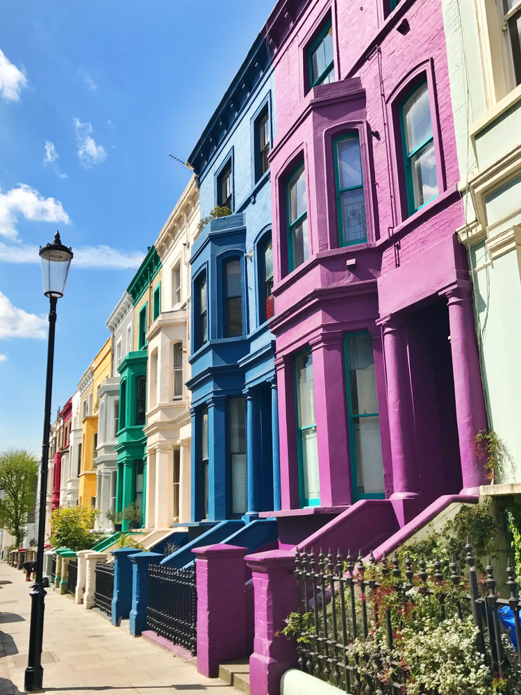 Beautiful places in London Notting Hill