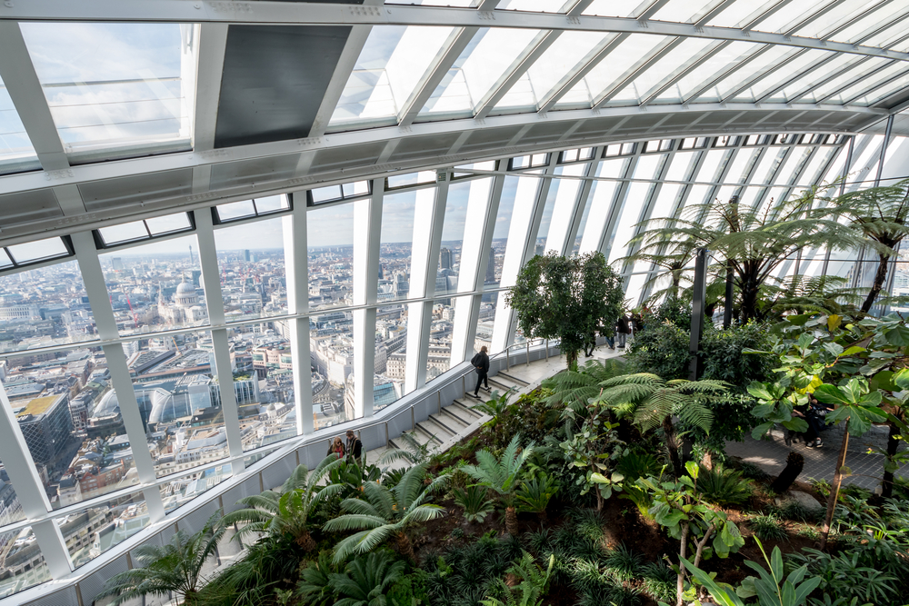 Beautiful places in London Sky Garden