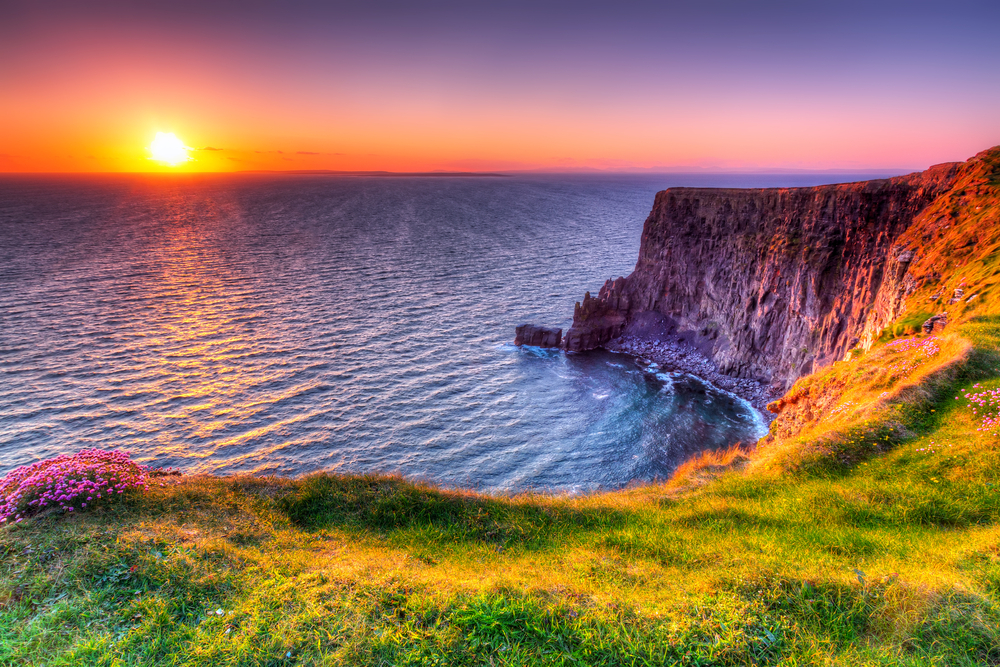 Cliff of Moher Ireland sunset
