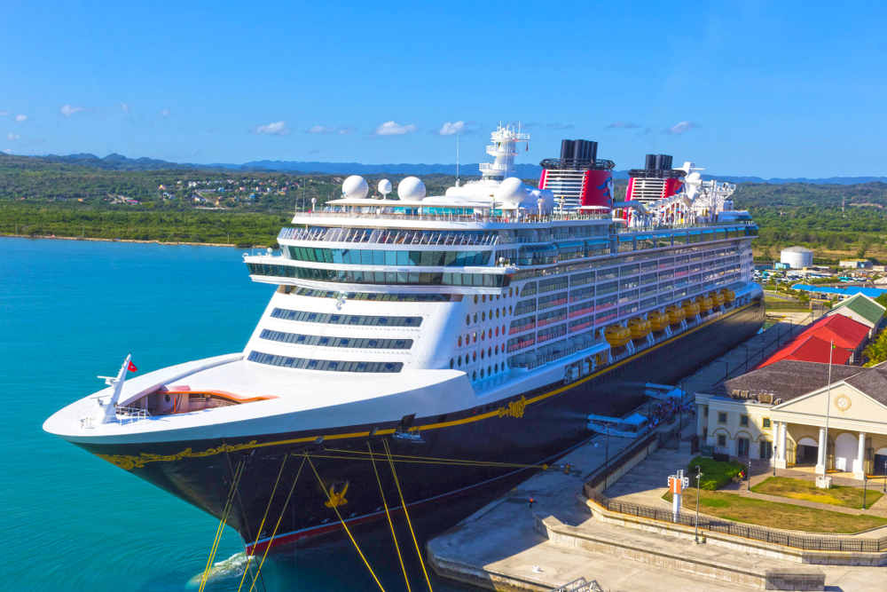 Disney cruise packing list ship in port in Jamaica