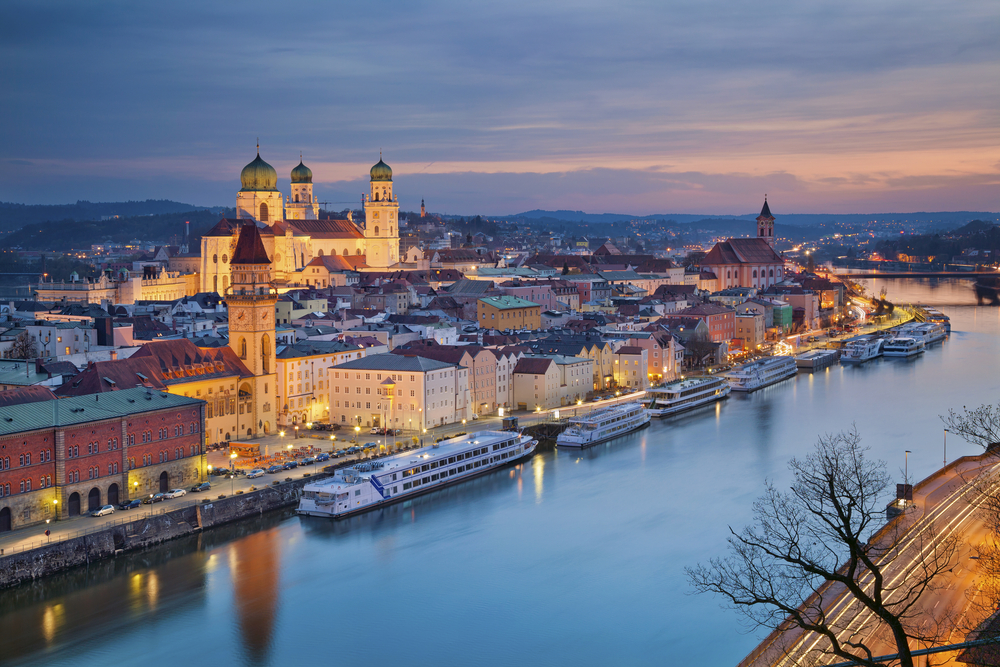 Passau Germany sunset