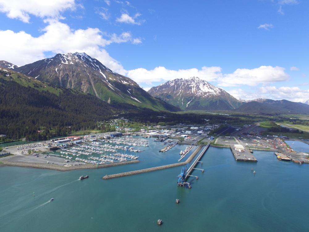 Seward Alaska ariel view