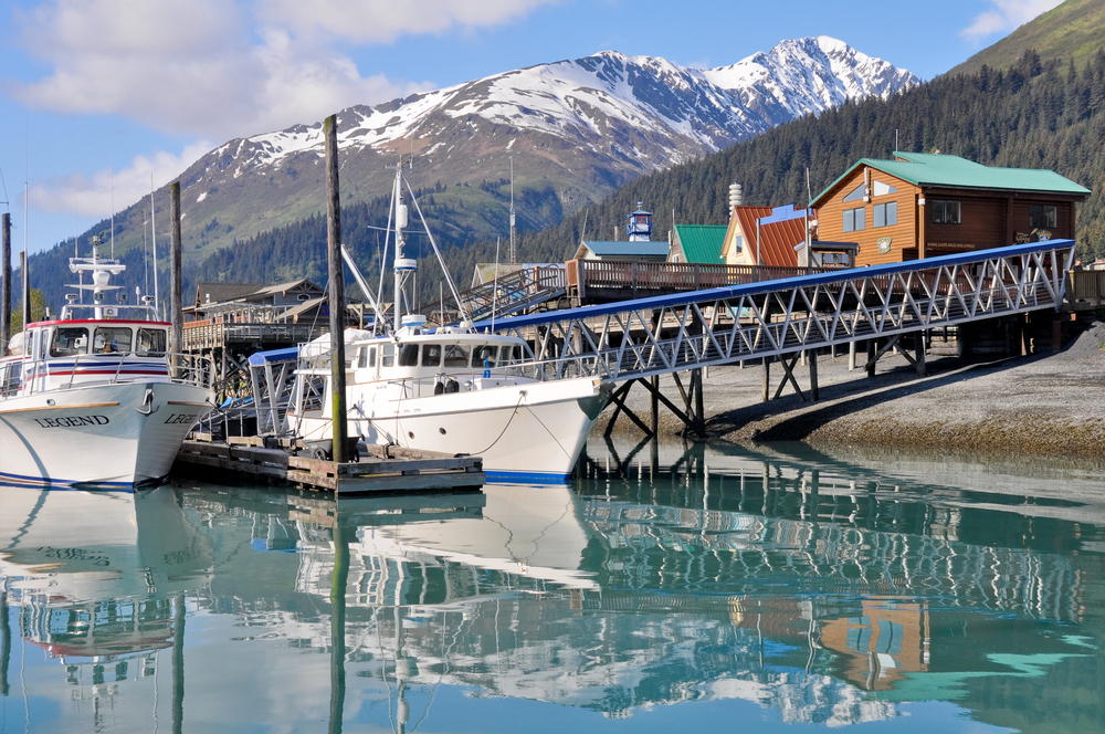 Seward Alaska marina town