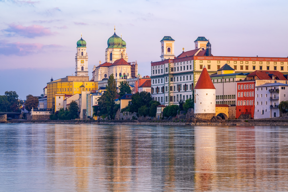 Passau Germany Danube River view
