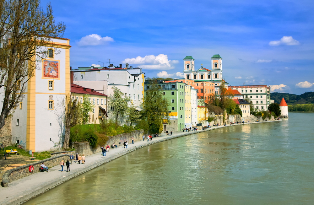 Passau Germany Inn River promenade