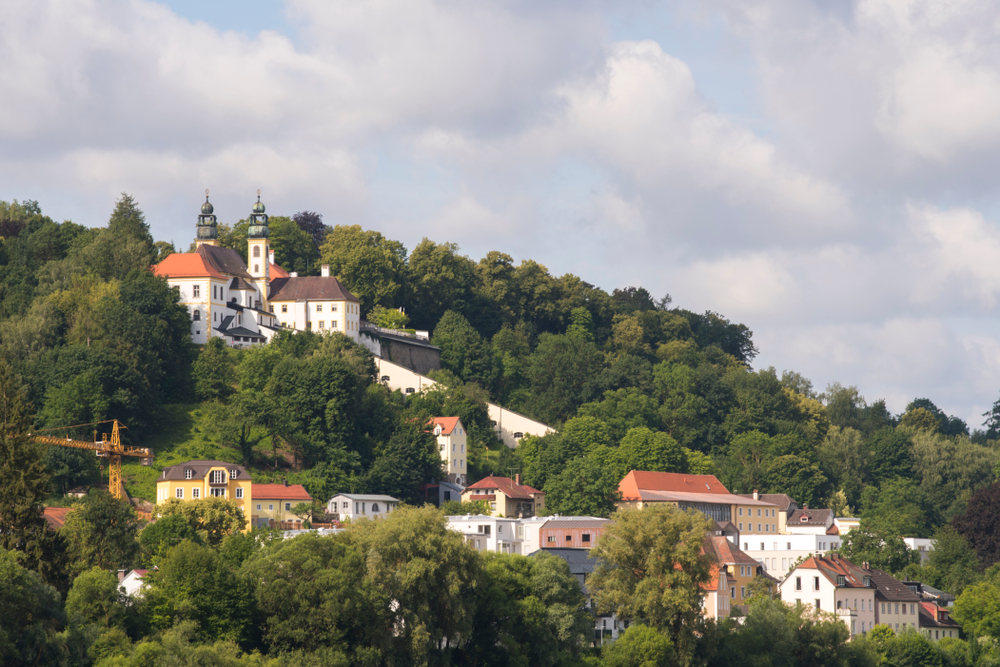 Passau Germany Marianhilf Pilgrimage church on the hill