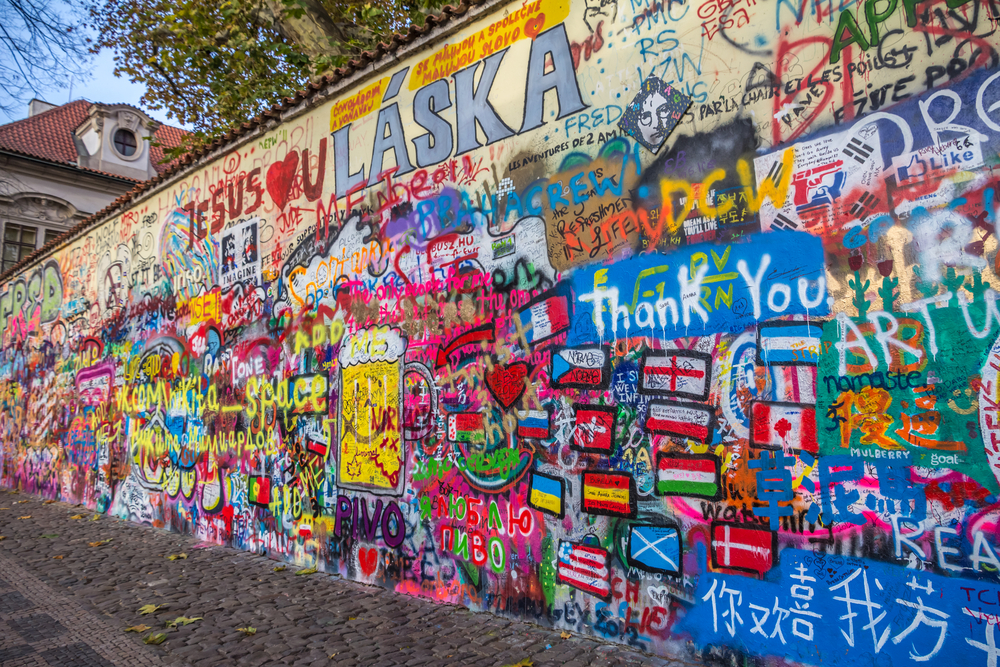 2 Days in Prague Lennon Wall