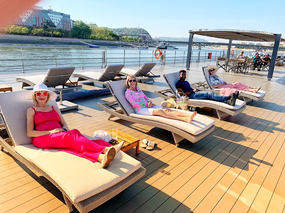 Crystal River Cruises Relaxing on Vista Deck