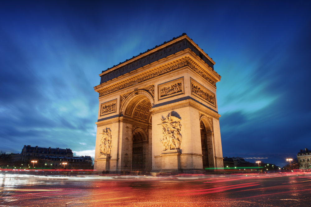 The Arc de Triomphe is a great thing to see when visiting Paris for 4 days