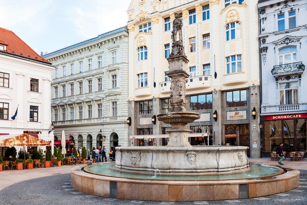 visit Maximillian Square in Bratislava's Old Town