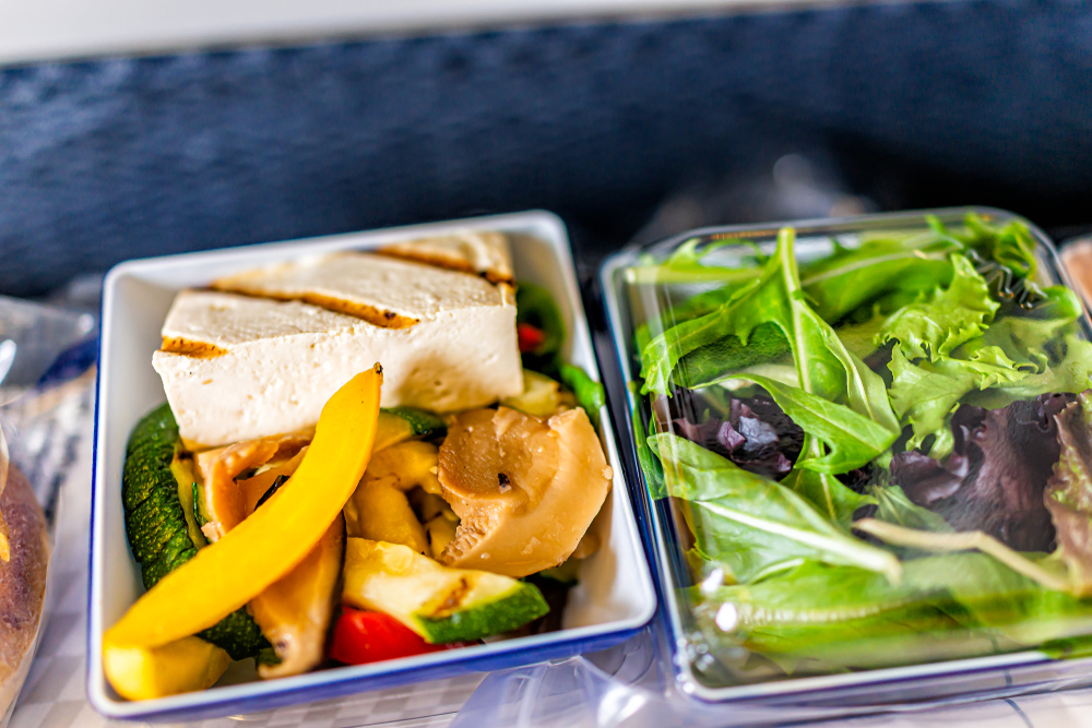 Order specialty food on international flights