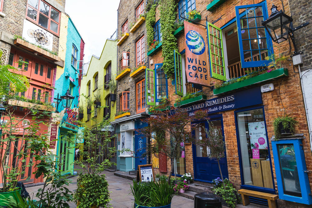 3 days in London Neal's Yard is so colorful