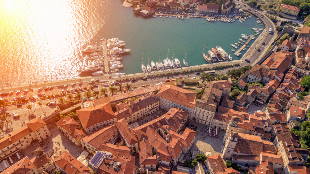 things to do in kotor panoramic view of rooftops and harbor