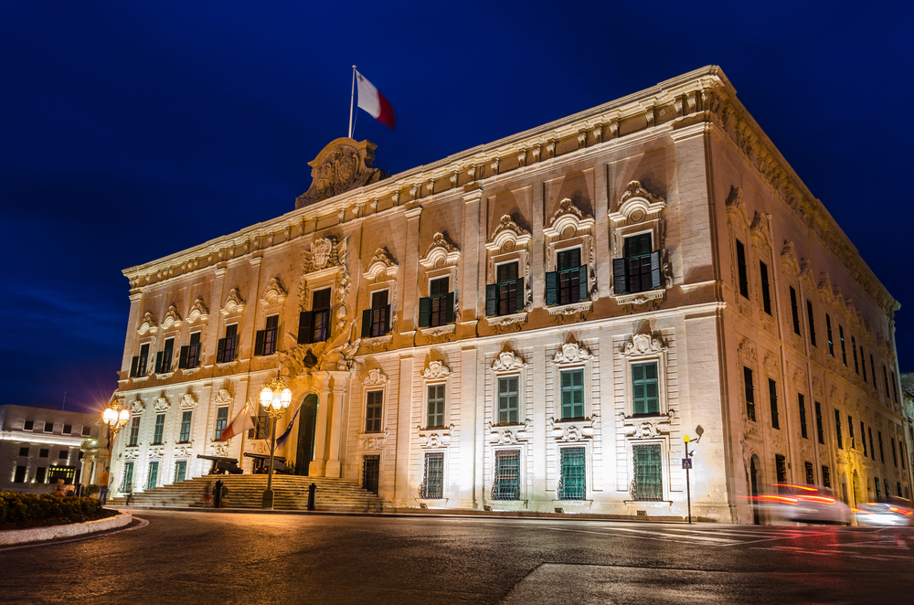 places to visit in Malta Auberge de Castille