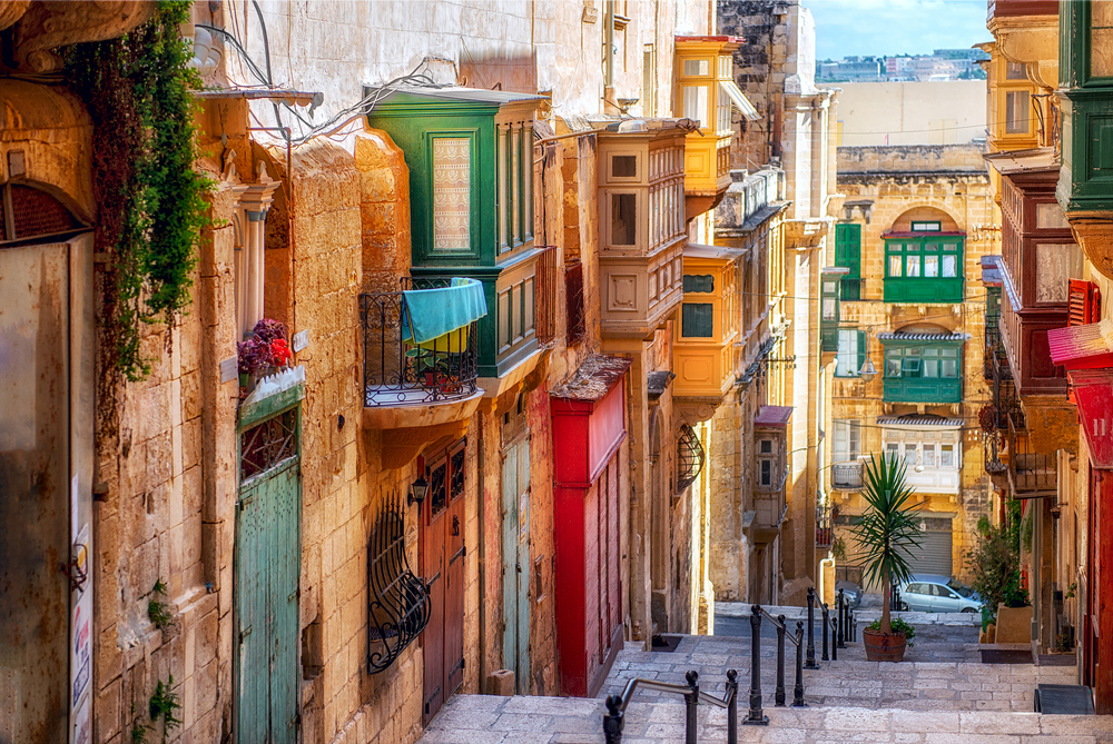 places to visit in Malta Valletta street