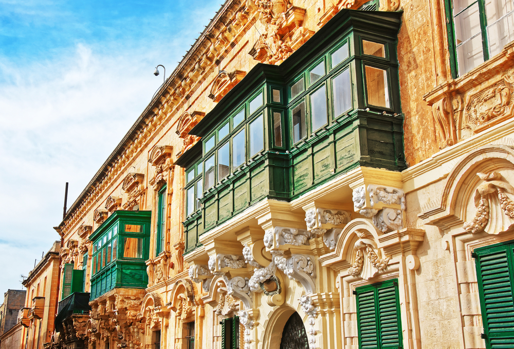 Places to visit in Malta traditional green balconies