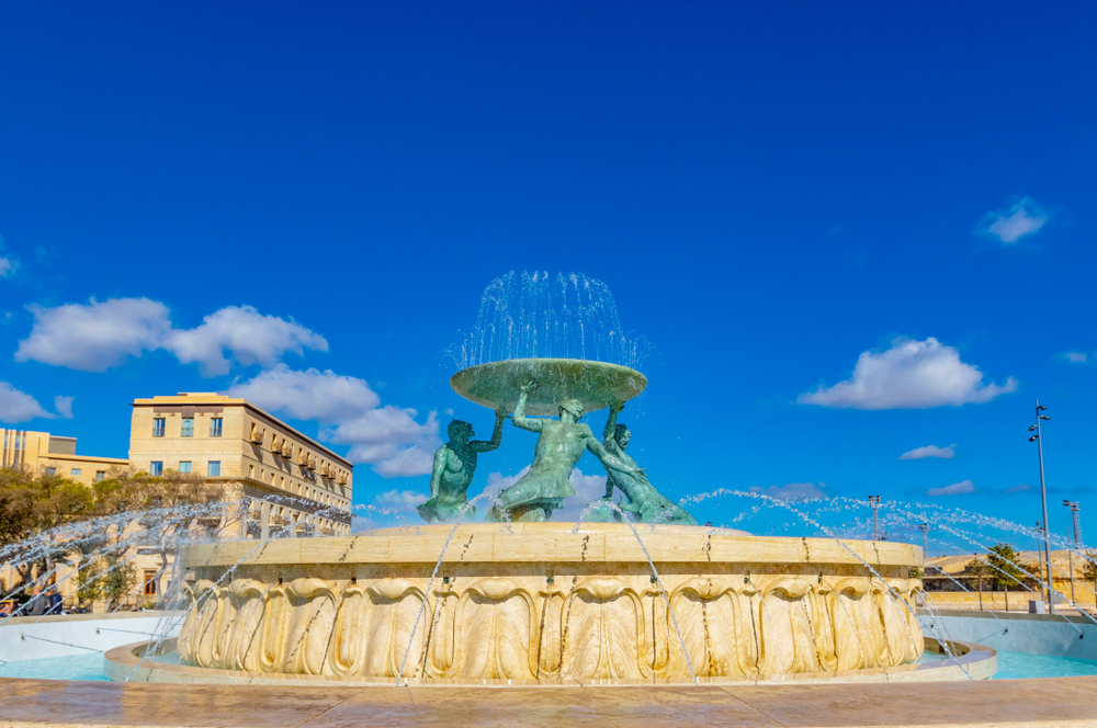 Places to visit in Malta Triton fountain