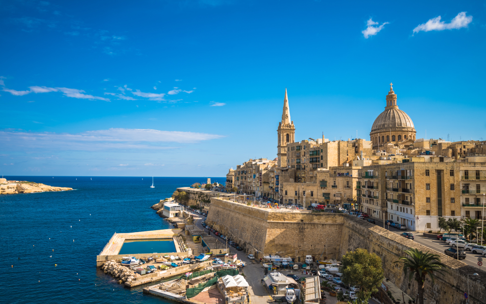 Places to visit in Malta Valletta view