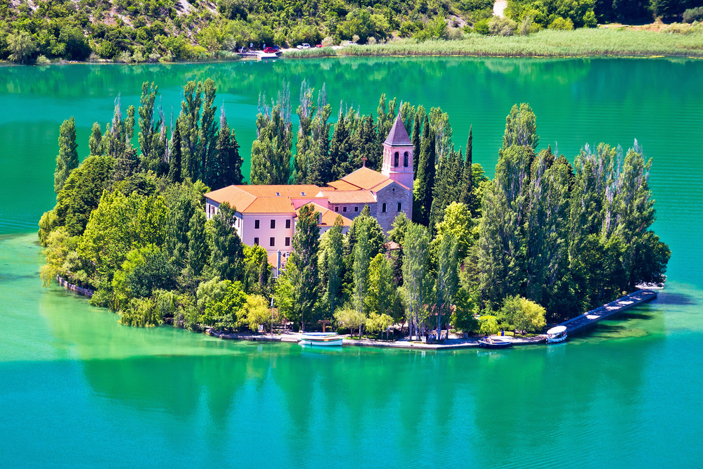 Day trips from Split Island of Visovac w/monastery