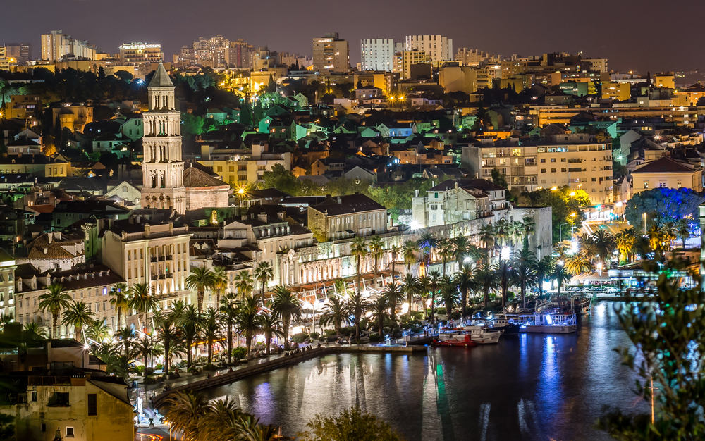 Split at night is worth seeing when visiting Croatia