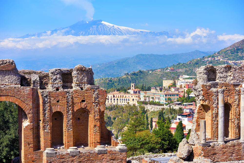Things to do in Taormina theatre ruins and mount etna