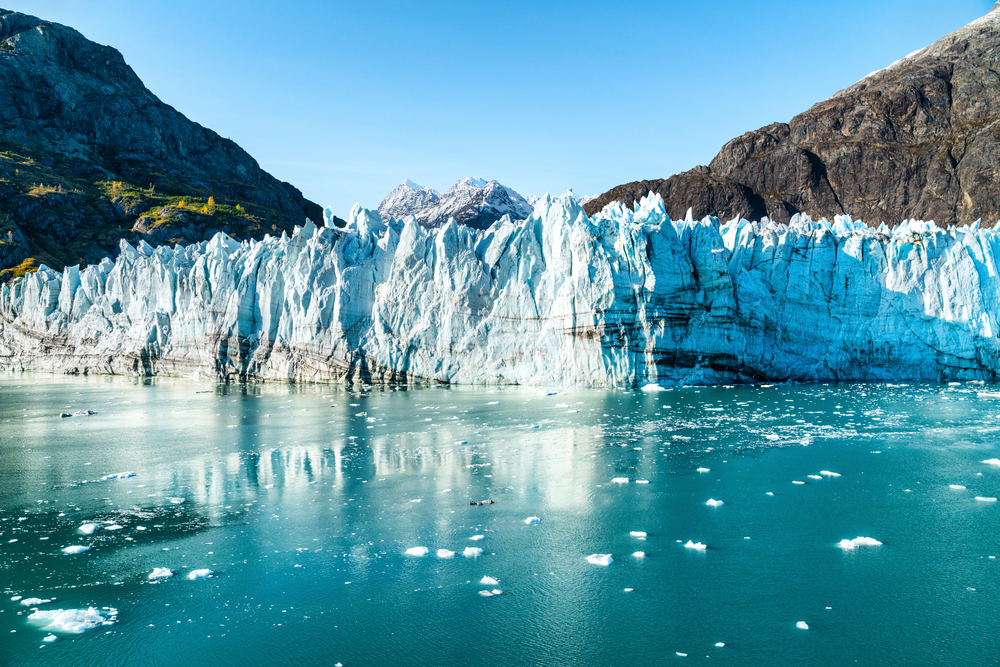 Glaciers are beautiful in Alaska