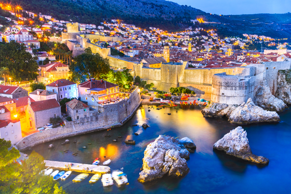 Day trips from Dubrovnik city sunset