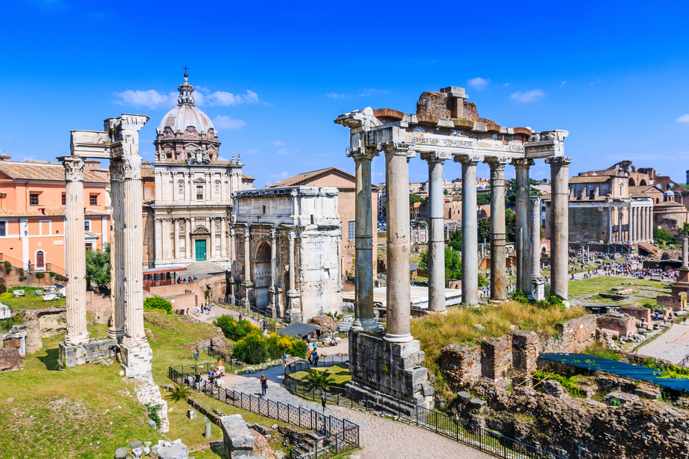 One day in Rome, the Roman Forum