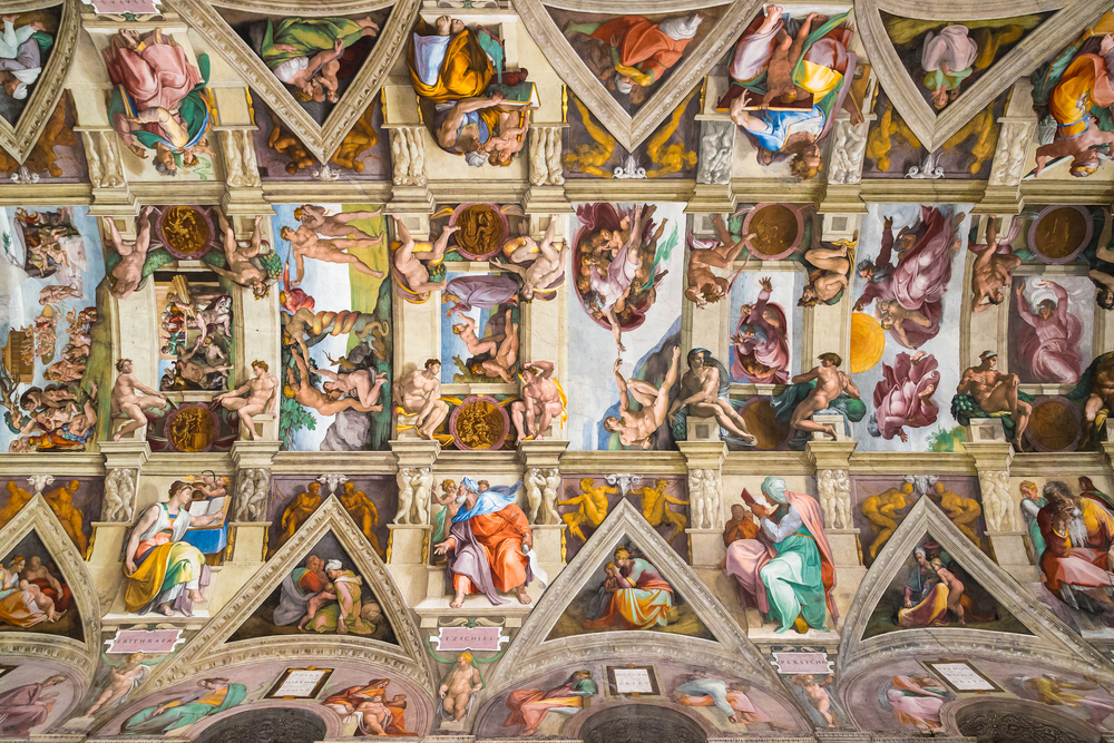 Rome in a day, Sistine Chapel ceiling